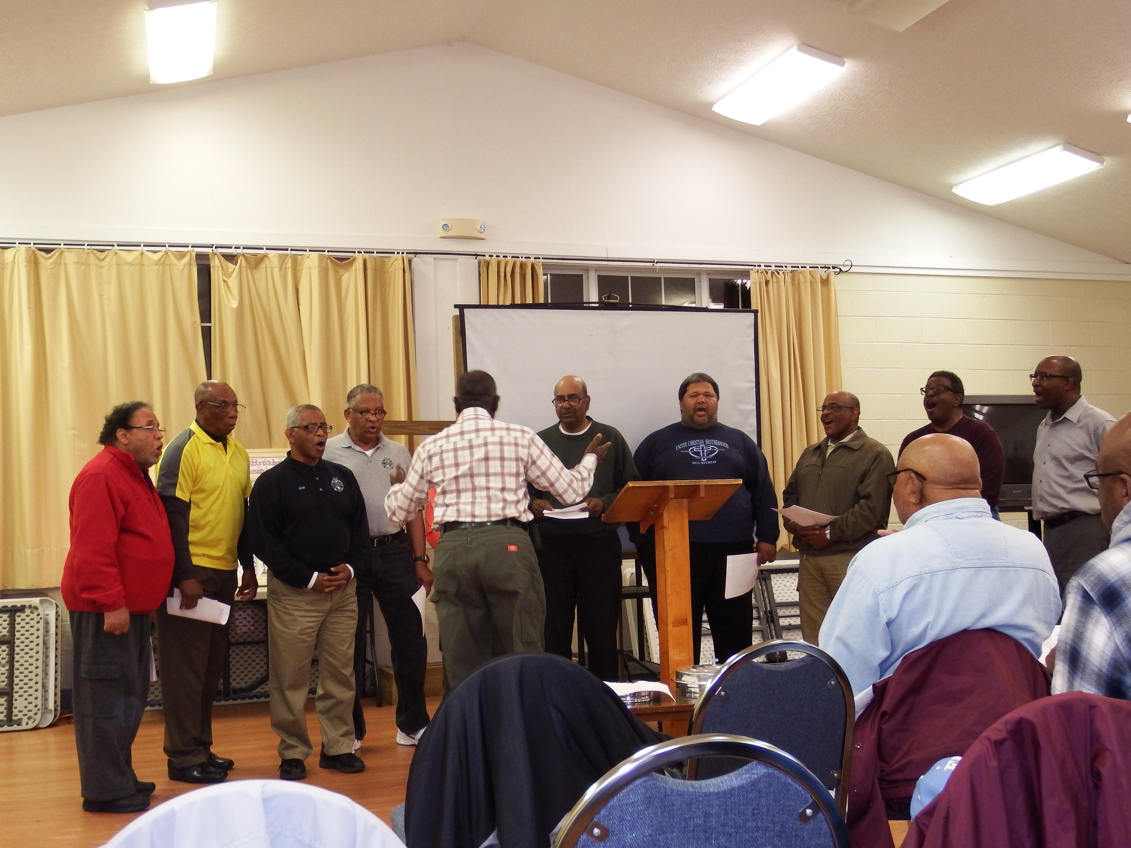 UCB Men's Choir at 2016 Retreat