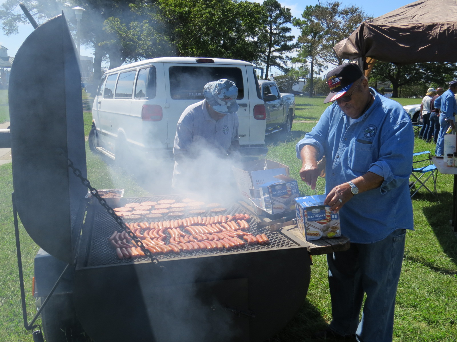 Grilling to serve the People at 2017 Family Day